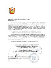Nombramiento de Cronista Oficial de Torreón con carácter vitalicio