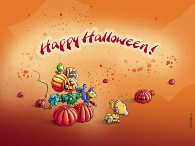 Kidnap my heart - Funny happy halloween wallpaper ...