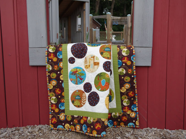 Animal Party Circle Quilt