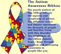 colorful autism ribbon
