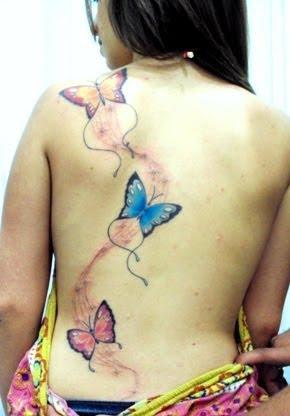 Tattoo: Borboletas nas costas
