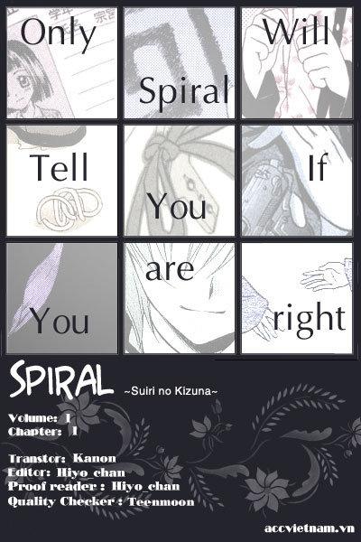 Truyện tranh trinh thám: Spiral: Suiri no Kizuna - Thám tử kỳ tài 031