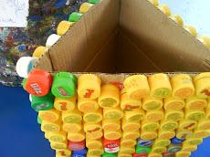 Reciclar y reutilizar en un ejemplo concreto : Basurero con Tapa (s)...
