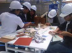 Cada colegio tuvo un plazo de 4 horas para desarrollar su proyecto...