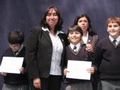 Los profesores y profesoras jefes entregaron reconocimientos...