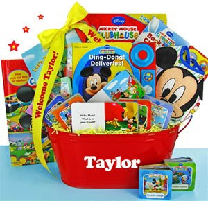 Fashion In Baby Shower Disney Mickey Mouse First Library