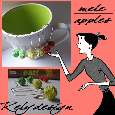 relydesign_apples, paper, mele, carta, orecchini, earrings, etsy