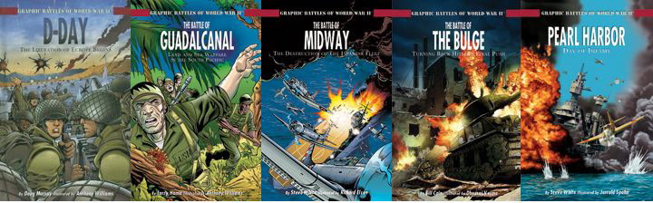 Tweencity a world of books and media for tweens nonfiction graphic other titles in the graphic battles of world war ii series include d day the liberation of europe begins isbn 978 1404207868 the battle of guadalcanal sciox Gallery
