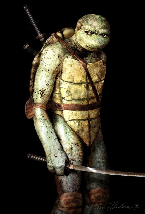 Como serian las tortugas ninjas en la vida real