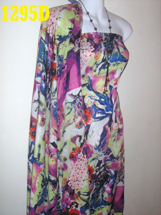 C 1295D: CHIFFON BERCORAK CUN, 4 METER