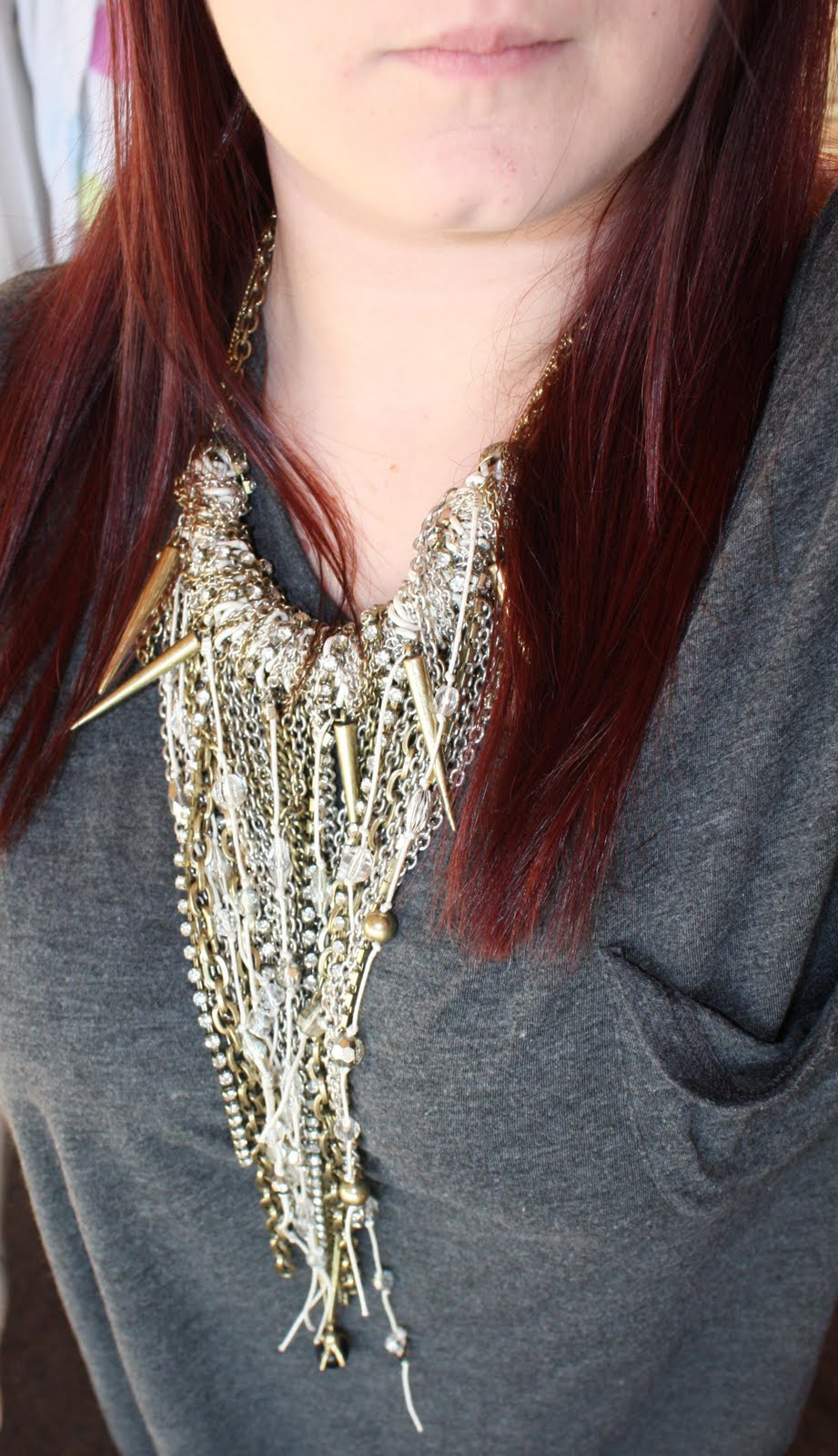 Heart of Solid Gold: In a Heartbeat: Topshop Spike Necklace