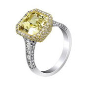 Image of 14th most expensive gold and diamond ring jewelry