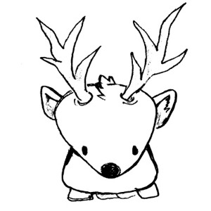 Deer Mask Coloring Pages