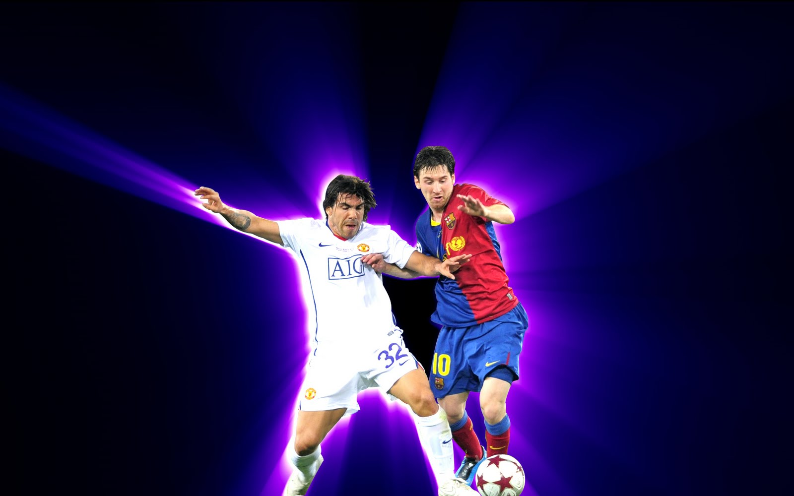 Messi Y Tevez Wallpaper Final De Champions En Roma
