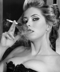 Hot Vintage Girl Smoking