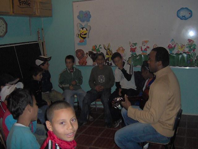 Oficina de Música SASE na Associação Comunitária do Campo da Tuca