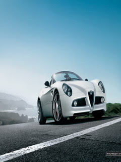 free samsung corby themes wallpaper Alfa Romeo 8c Spider
