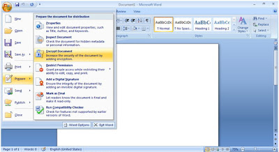 Password Protected on Microsoft Word 2007