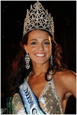 Miss World 2009 Winner-Miss Gibraltar Kaiane Aldorino