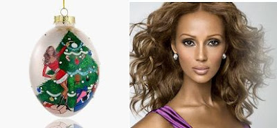 Iman Christmas Ornament