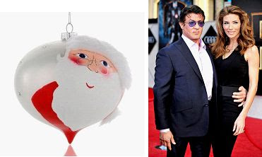 Jennifer and Sly Stallone Christmas Ornament