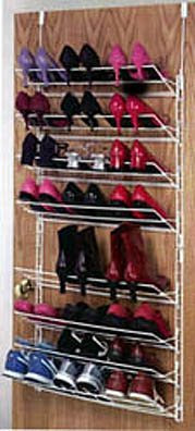 hanging shoe rack behind door