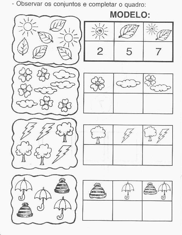 Extremamente Arte de educar: Atividades de matemática para Educação Infantil QF71