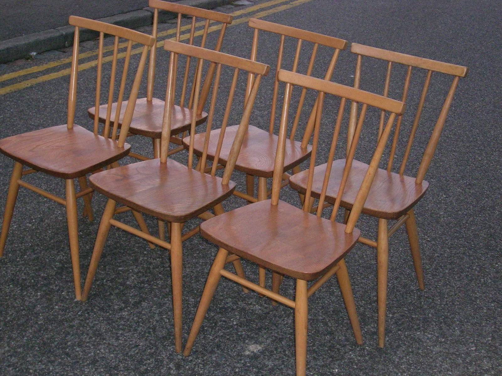 Retrorummage2010 60s Ercol Spindleback Chairs sold