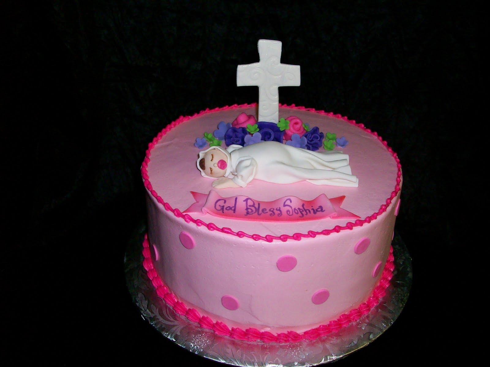On Birthday Cakes Baby Girl Baptism Cake