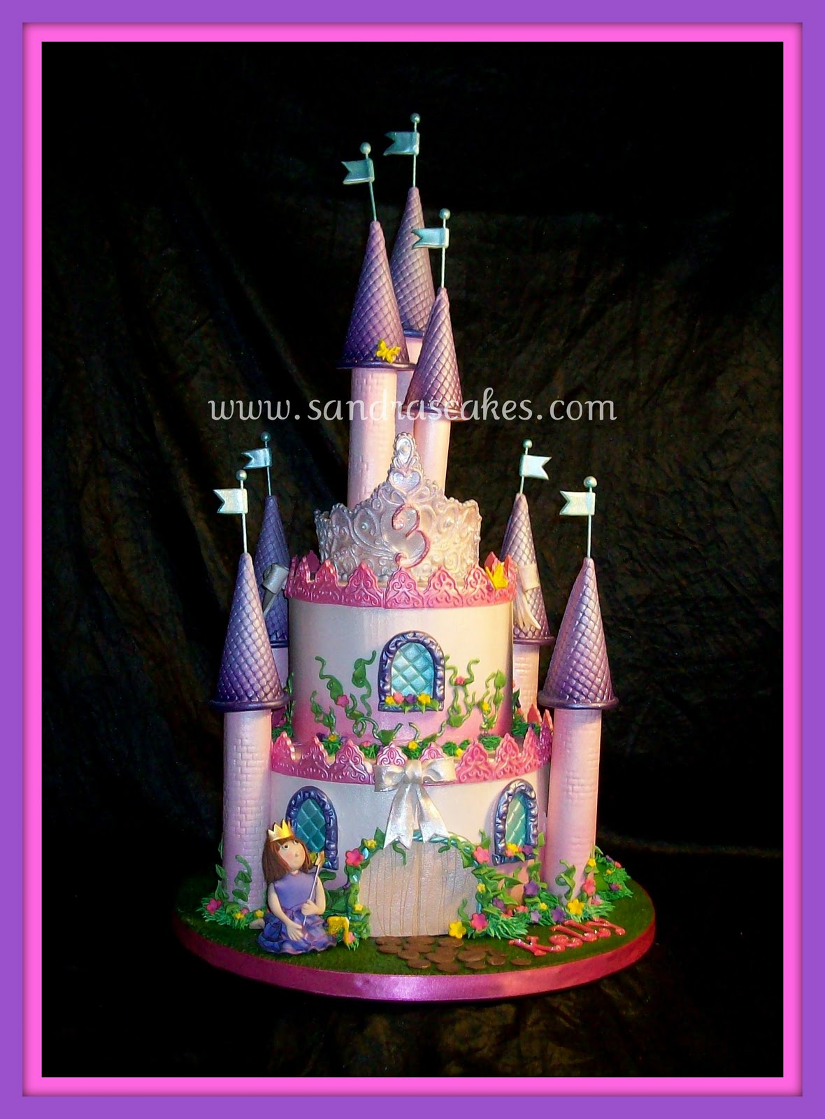 On Birthday Cakes Castle Cake For A Little Princess