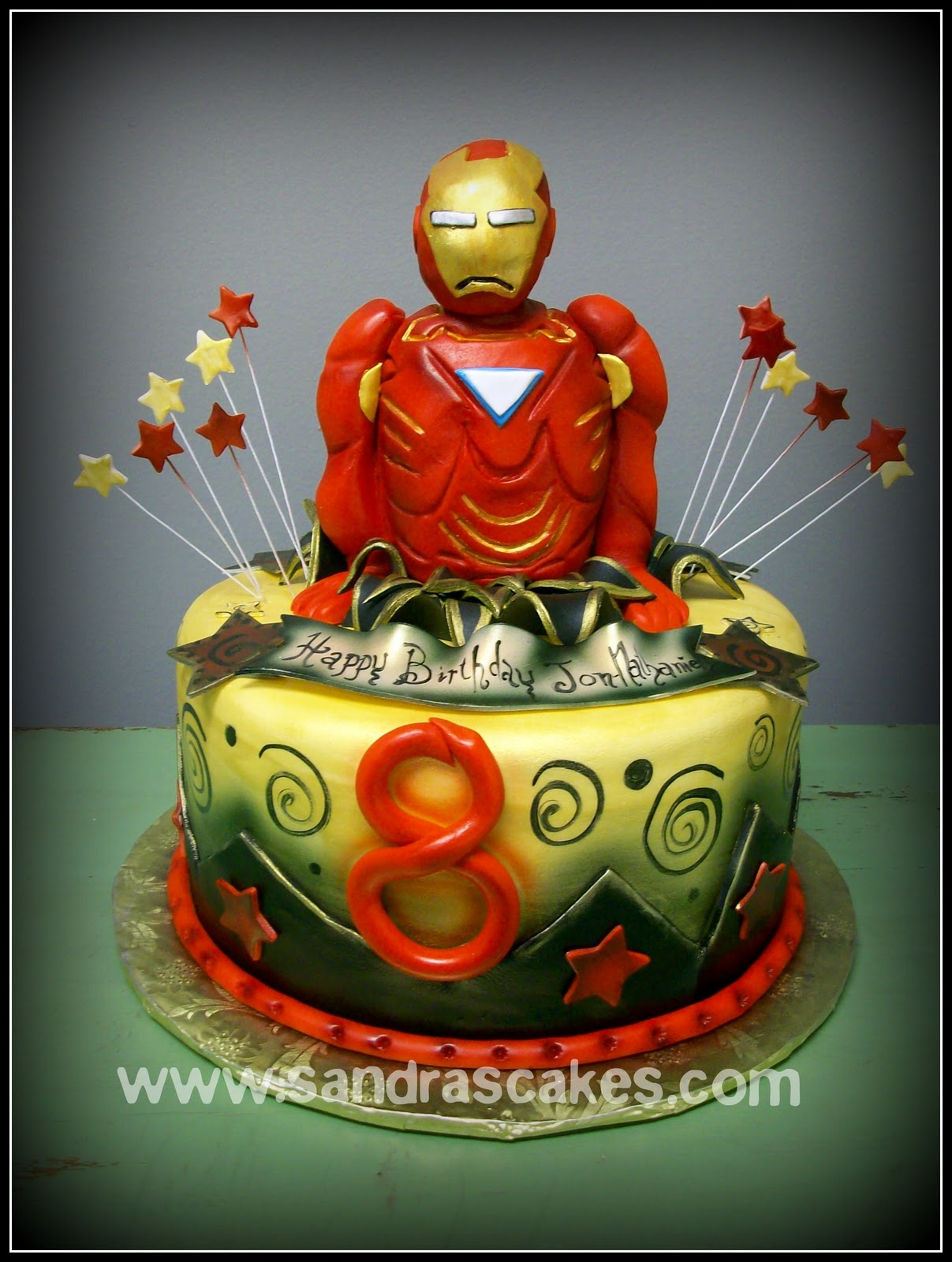 On Birthday Cakes Ironman Birthday Cake
