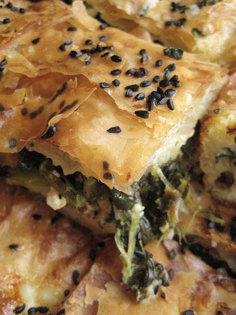 I now am familiar with using phllyo dough for other various b Flaky Spinach Pie (Ispanaklı Tepsi Böreği)