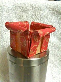 the origami hen petal box