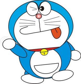 ... doraemon tokoh titular robot kucing yg lucu menggem