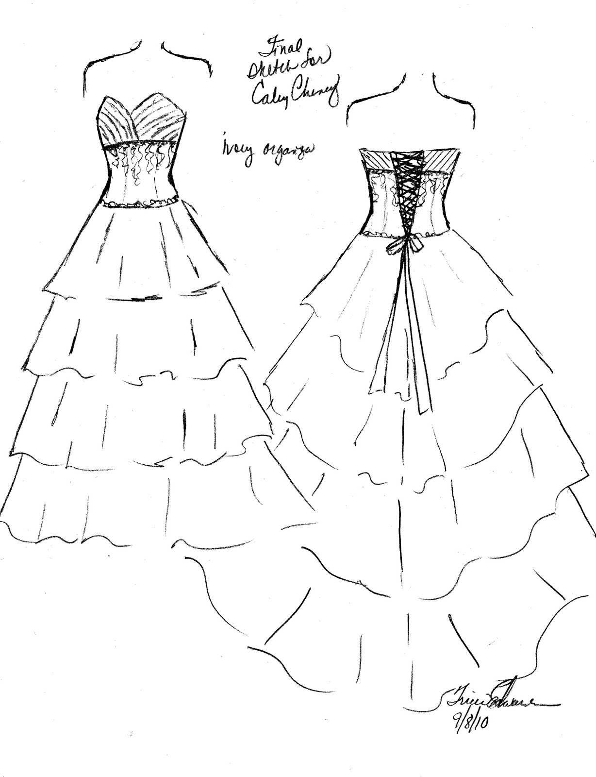 Pageant Dresses Clip Art