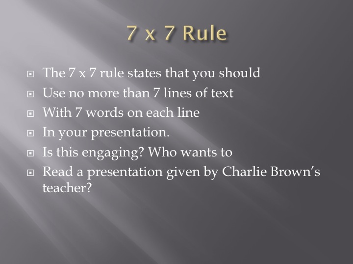 rules of powerpoint