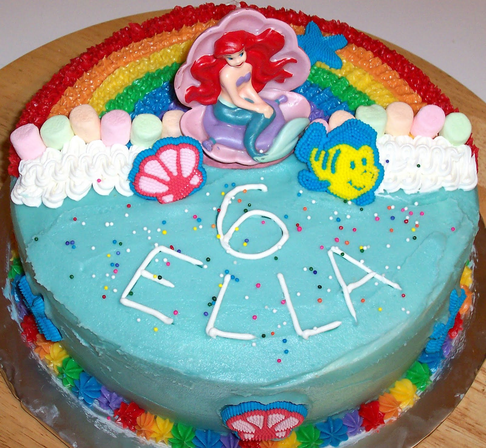 Ellabella Designs Ariel Mermaid Rainbow Birthday Party