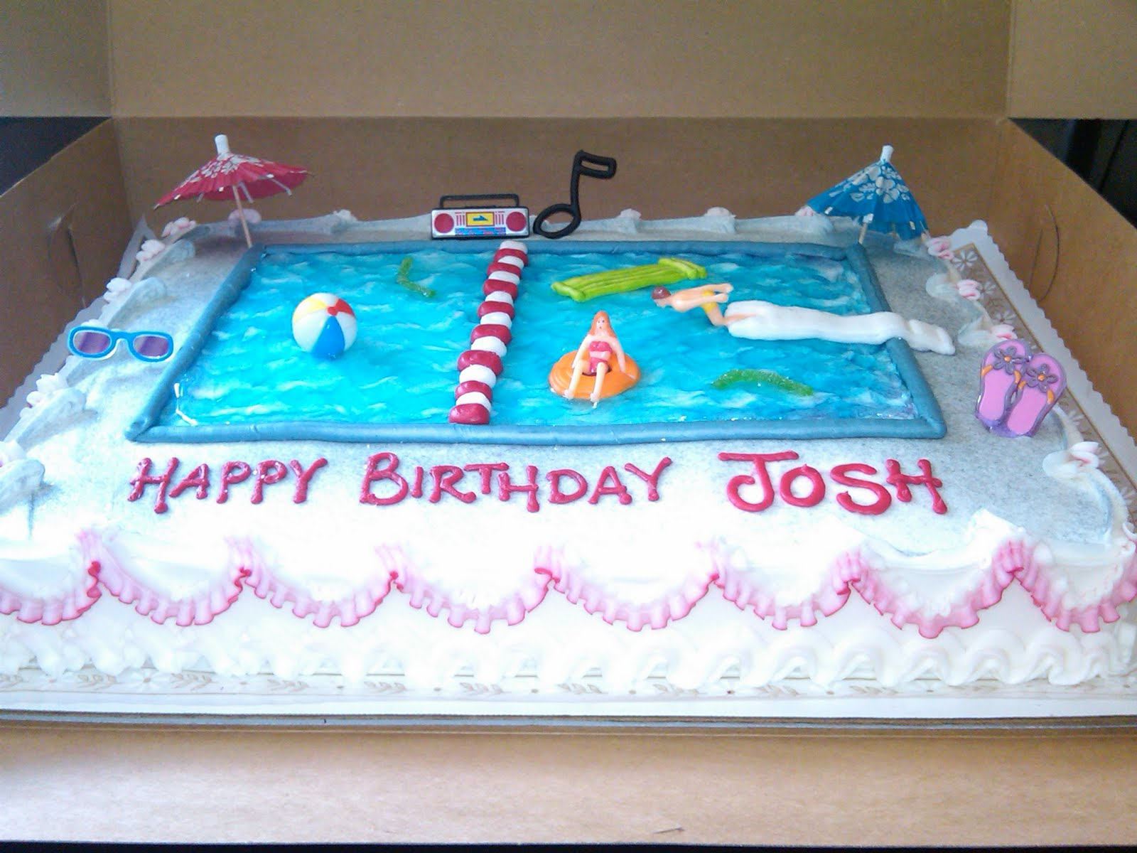 Swimming Pool Cake Ideas : Swimming pool cake ideas and designs