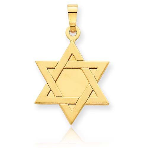 Gold Star of David Pendant