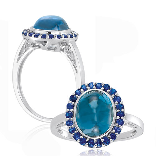Lab-Created Sapphire Ring