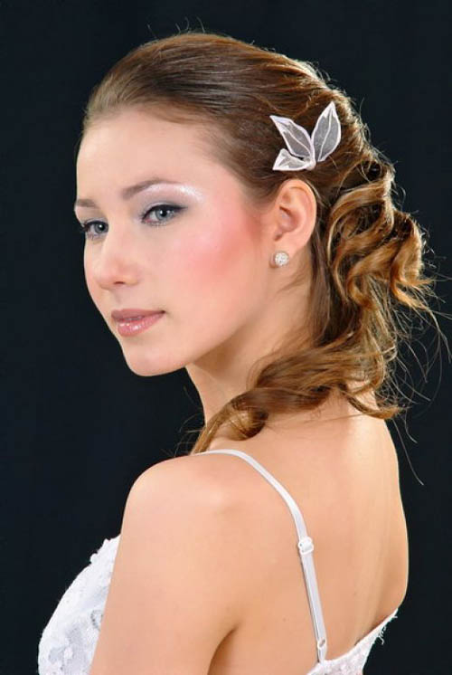 prom updo hairstyle. First you need medium to long length hair.