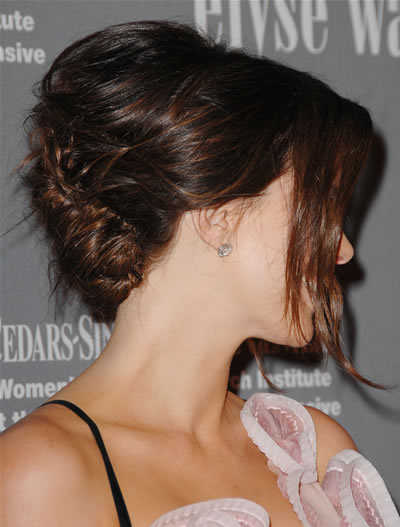 Celebrity Easy Updo Hairstyles for Short Hair