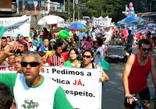 Manifestação na Cantareira