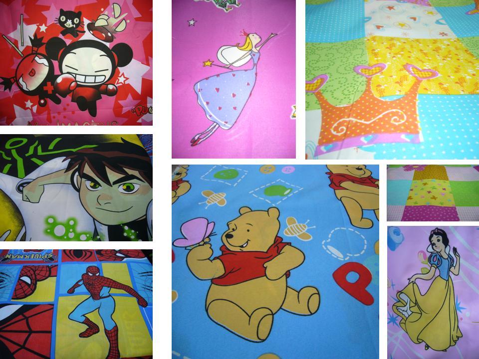 en telas y con los personajes favoritos de tus chicospara crear almohadones cortinas sbanas detalles para decorar sus cuartos y lo que