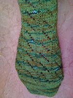 diagonal lace sock
