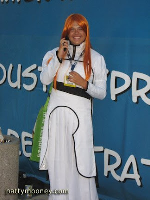 Comic Con male as female character - Photo by San Diego video producer Patty Mooney of Crystal Pyramid Productions