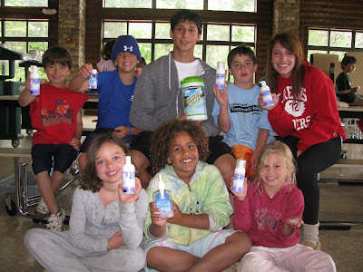 Pump It Up Tamarack - Campers and Staff with Hand Sanitizers