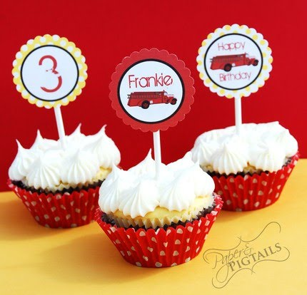 Truck Cupcake Toppers