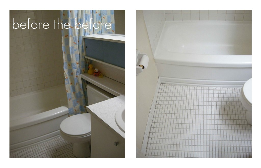 luck and bliss: A $12 Rental Bathroom Makeover (again)
