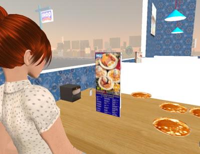 Ida eats pancakes